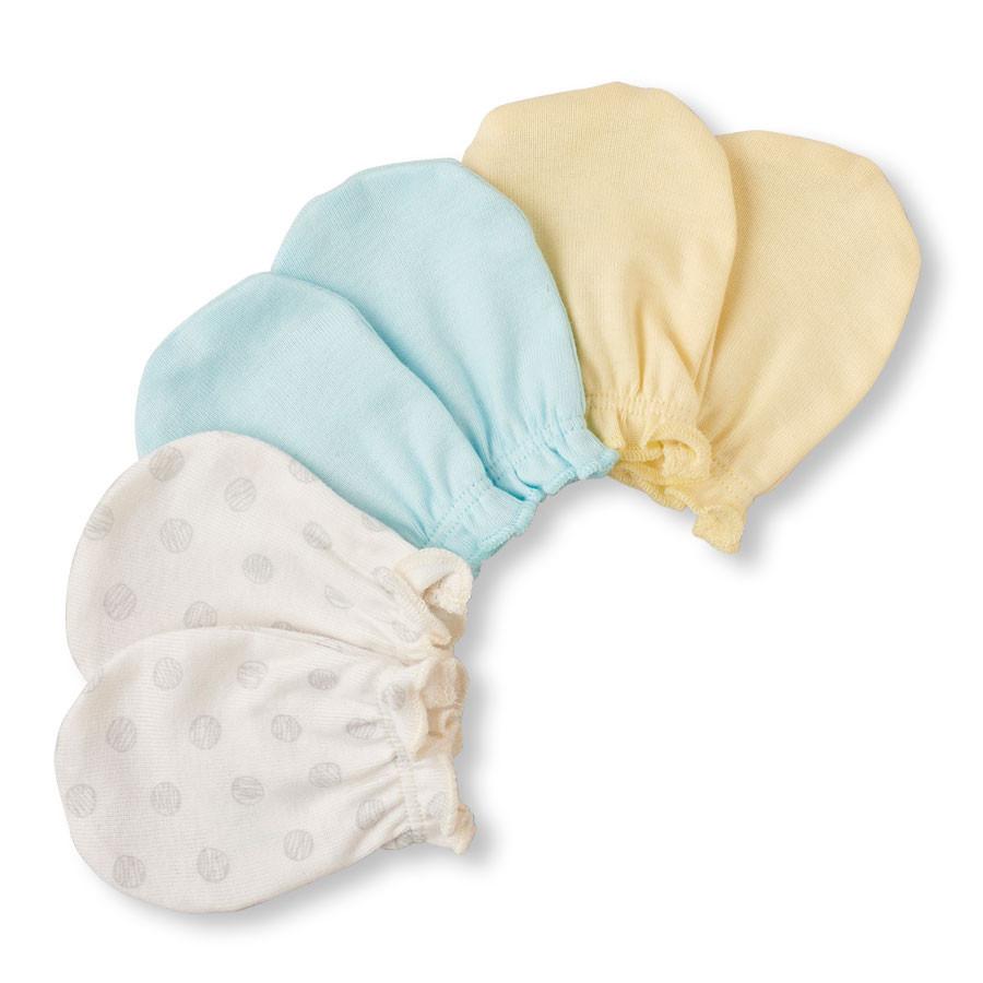Рукавички-царапки для новорожденных Набор 3 пары The Children's Place (США)