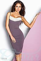 Соблазнительное эластичное платье. Цвет светло-баклажановый.