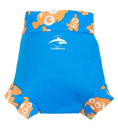 Трусики для плавания Konfidence NeoNappy, Цвет: Cyan/ Clownfish, S/ 3-6 мес, фото 2