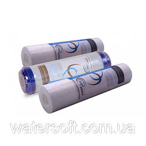 Комплект картриджей AQUALINE (SEDIMENT PP-5 + SEDIMENT PP-1 + CARBON BLOCK CTO-10)