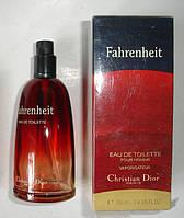 Мужская туалетная вода Christian Dior Fahrenheit ( Кристиан Диор Фаренгейт ) 100 ml c желтой полосой