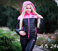 Женский зимний костюм теплый на меху овчинке Nike с 42 по 48 р.