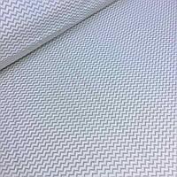 Ткань хлопковая Mist с мелким серым зигзагом на светло-бежевом фоне №011