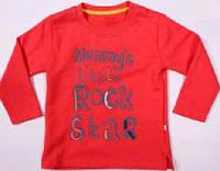 Красная футболка с длинным рукавом  для мальчика  тм Aziz Bebe р-ры 12,18,24 мес