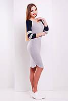 Трикотажное приталенное платье серого цвета