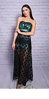 Вечернее платье из атласа и дорогого гипюра