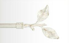Декоративный наконечник Лист розы для кованого карниза 16 мм.