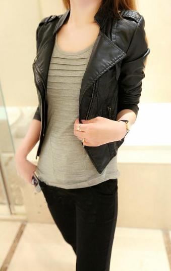 Женская кожаная куртка. Модель 2119