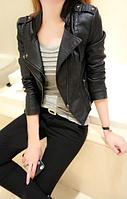 Женская кожаная куртка. Модель 2119, фото 2