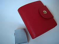 Портмане Терган арт.5674 женское натуральная кожа горизонтальное цвет красный