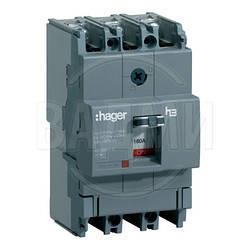 Автомат HDA063L, x160, 3П, 63 А, Ics 18 kА, 400/415 В AC, Hager