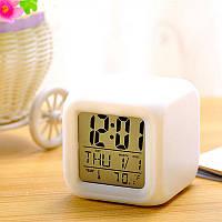 """Часы ночник будильник термометр календарь """"Волшебный куб"""""""
