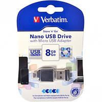 Флешка USB 2.0 8Gb Verbatim OTG