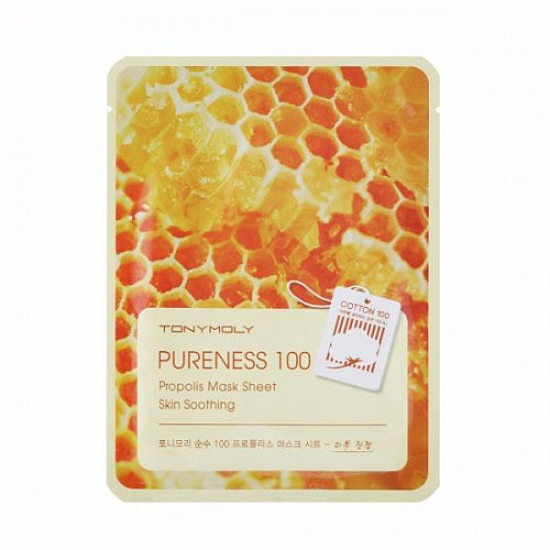Тканевая маска с экстрактом прополиса TONY MOLY Pureness 100 Propolis Mask Sheet Skin Soothing - Mirashop в Киеве