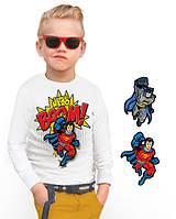 """Лонгслив и 2 сменных картинки """"BiBi Superhero""""; 3, 4, 5, 6-7, 8-9, 10-11, 12-13 лет, фото 1"""