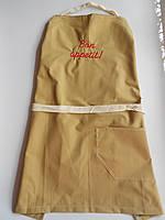 Бежевый джинсовый фартук