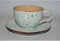 Чашка с блюдцем 225мл белая C-11175 ALT CERAMICS