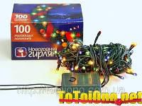Гирлянда электрическая новогодняя 100 лампочек, 4 метра