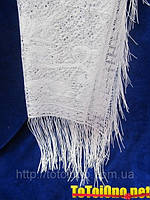 Свадебный шарф вязаный для невесты