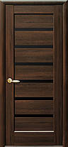 Межкомнатные двери Новый Стиль Линнея черное стекло, фото 2