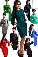 Платье женское туника с поясом и карманами 42 44 46 48 50 Р