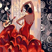 Картина раскраска. Фламенко