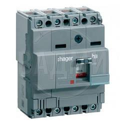 Автомат HDA064L, x160, 4П, 63 А, Ics 18 kА, 400/415 В AC, Hager