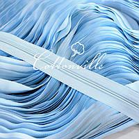Молния спиральная прочная #3 голубая