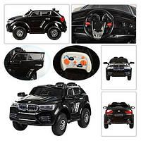 Детский электромобиль    BMW X4 KD 103: 2.4G, надувные колеса, кожа -Черный- купить оптом