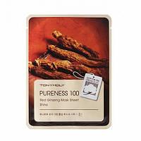 Тканевая маска с женьшенем Pureness 100 Red Ginseng Mask Sheet