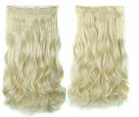 Трессы волосы на заколках Блондинка