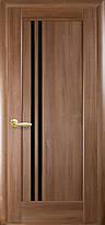 Межкомнатные двери Новый Стиль  Делла черное стекло, фото 2