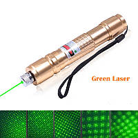 Профессиональная лазерная Фонарь-указка зеленый HJ-305, 5 насадок