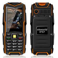Land Rover f8  Противоударный телефон (Power Bank 8800mAh) Orange (черно-оранжевый), фото 1