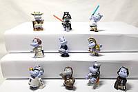 Бегемоты Звёздные Войны 2002, 10шт комплект, Hippo Star Wars Das Hipperium Spielt 2002  Игрушки из киндеров