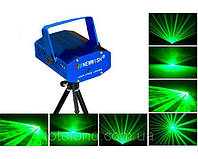 Лазерная установка (лазер) Mini Laser Stage Lighting, 2 цвета, красно-зеленые рисунки