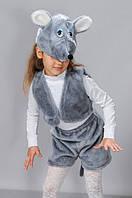 Детский карнавальный костюм серый мышонок