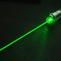 Мощная лазерная указка зеленый луч + 11 насадок