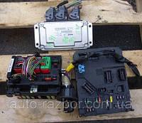 Блок управления двигателем и контактная группаPeugeot 206 1.6 hdi1998-2005