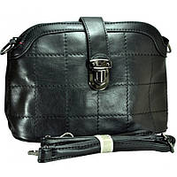 Клатч-сумка черая на длинной ручке