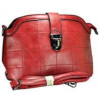 Клатч-сумка из кож-зама бордовая