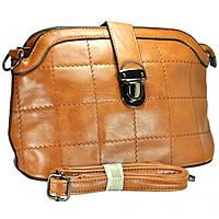 Клатч-сумка св.-коричневая на длинной ручке