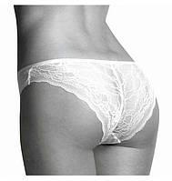 Трусы женские хлопковые бикини Key LPN 010 BI белые (Кей), Польша, 2шт, фото 1