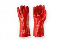 Перчатка рабочая бмс длинная красная