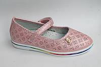 Детские туфельки для девочек весна 2017 от фирмы EEB.B C1510 Розовый (8пар, 26-31)