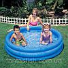 """Детский надувной бассейн INTEX 58446 """"Водный мир"""" синий/3 секц/винил (от 3-х лет) 168*41см IKD"""