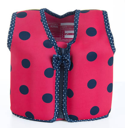 Плавательный жилет Konfidence Original Jacket, Цвет: Ladybird Polka, M/ 4-5 г, фото 2
