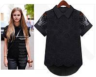 """Блузка женская с вышивкой черная """"Vuda"""", магазин одежды"""