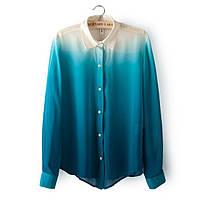 Блузка женская шифоновая ГРАДИЕНТ ,модная женская одежда