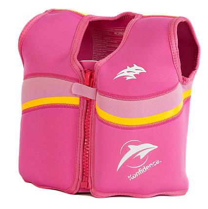 Плавательный жилет Konfidence Original Jacket, Цвет: Fuchsia/ Pink, L/ 6-7 г, фото 2
